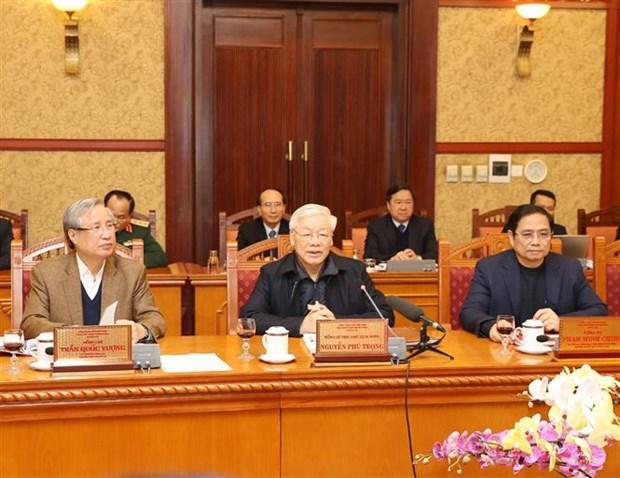 Le leader Nguyen Phu Trong demande de se mettre au travail apres le Tet hinh anh 1