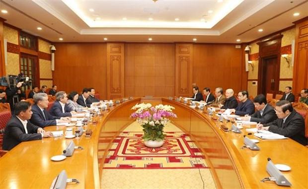 Le leader Nguyen Phu Trong demande de se mettre au travail apres le Tet hinh anh 2