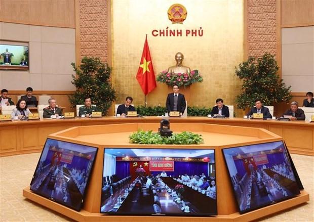 Nouveau coronavirus : le vice-PM Vu Duc Dam preside une videoconference nationale hinh anh 1