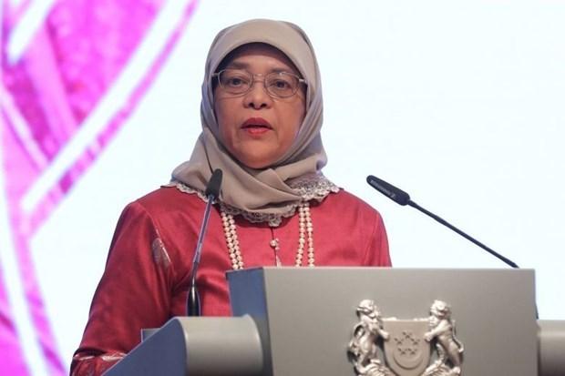 La presidente de Singapour effectuera une visite d'Etat en Indonesie hinh anh 1