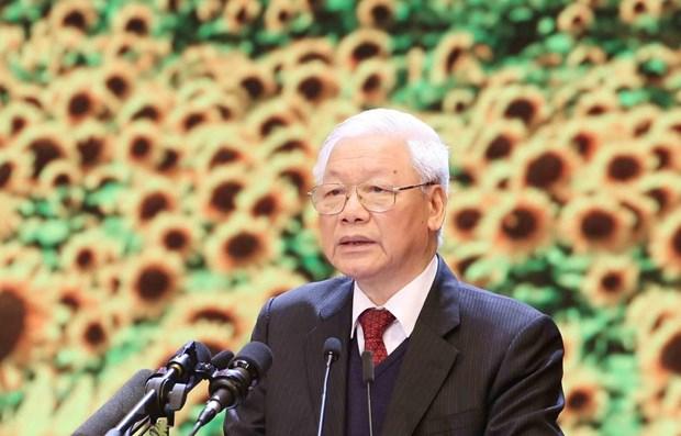 Le leader Nguyen Phu Trong affirme le caractere, le prestige, la capacite dirigeante du Parti hinh anh 1
