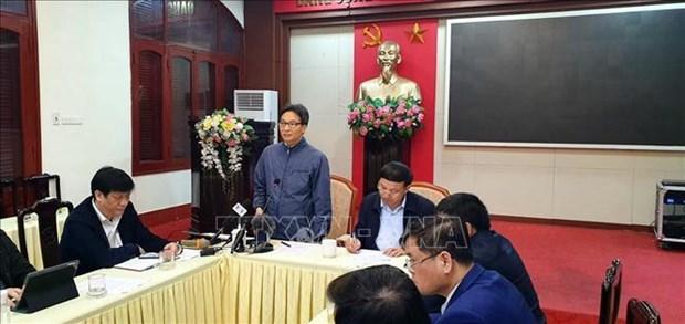 Coronavirus : Le vice-PM Vu Duc Dam inspecte les mesures de prevention hinh anh 1