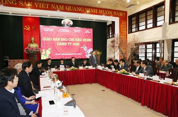 Les organes de presse s'assignent des taches pour 2020 hinh anh 2