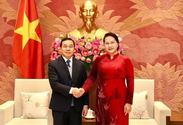 Le Vietnam et le Laos intensifient leur cooperation legislative en 2020 hinh anh 1