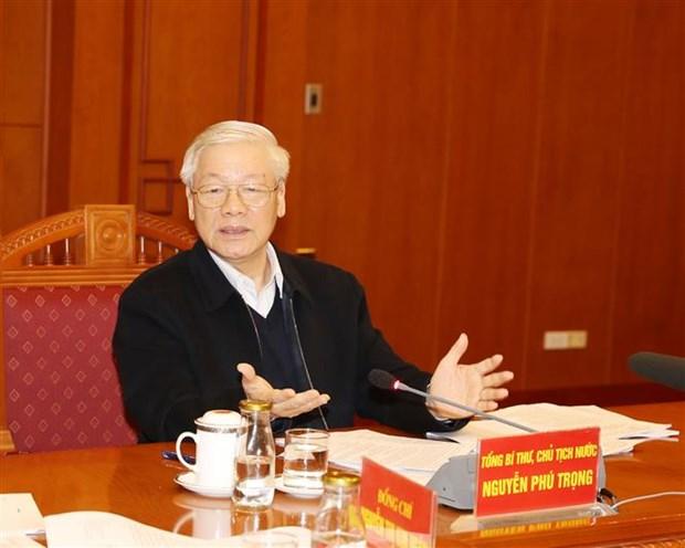 Le president demande de peaufiner les documents du 13e Congres national du Parti hinh anh 1