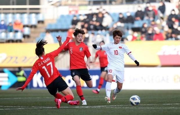 Football feminin: le Vietnam s'incline face a la R de Coree en eliminatoires des Jeux olympiques hinh anh 1