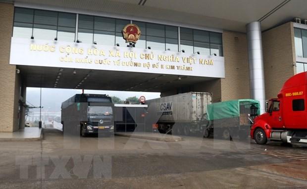 Coronavirus : reprise du dedouanement au poste frontiere de Lao Cai hinh anh 1