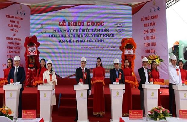 Un grand projet mis en chantier dans la zone economique de Vung Ang hinh anh 1