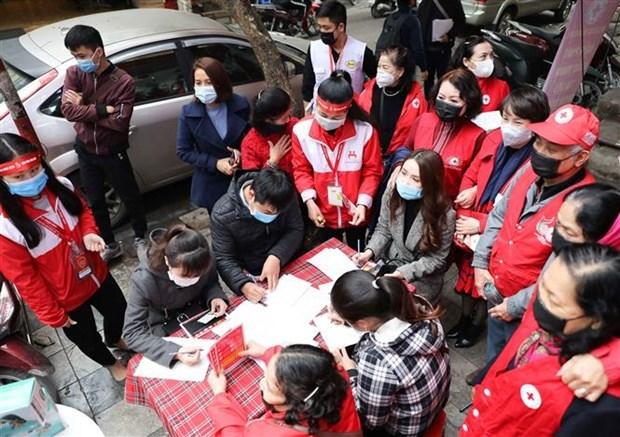 Hanoi : lancement de la campagne de don de sang hinh anh 1