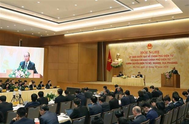 Le PM exhorte a accelerer le developpement de l'e-gouvernement hinh anh 1