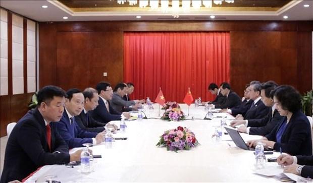 Pham Binh Minh rencontre ses homologues chinois et lao hinh anh 1