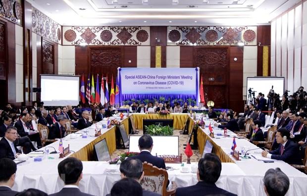 COVID-19 : l'ASEAN et la Chine resserrent leur cooperation pour lutter contre l'epidemie hinh anh 1