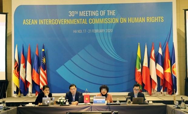 Le Vietnam preside la 30e reunion de l'AICHR a Hanoi hinh anh 1