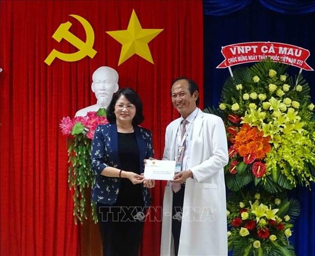 La vice-presidente Dang Thi Ngoc Thinh visite la province de Ca Mau hinh anh 1