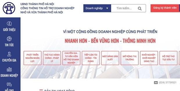 Hanoi lance un portail pour soutenir les PME hinh anh 1