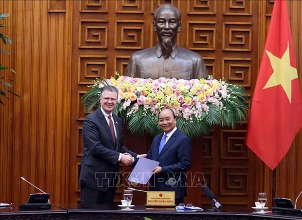 Le PM recoit une delegation du Conseil des affaires Etats-Unis-ASEAN hinh anh 1