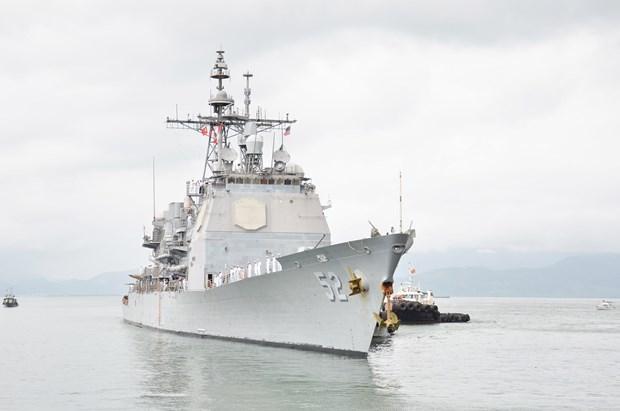 La visite des navires de guerre americains au Vietnam aide a promouvoir les relations bilaterales hinh anh 1