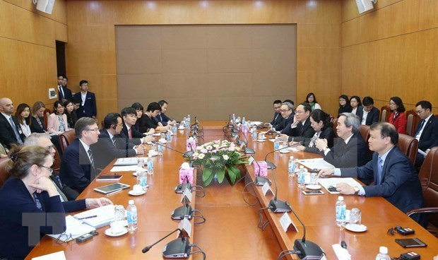 Une delegation du Conseil d'affaires Etats-Unis – ASEAN en visite au Vietnam hinh anh 1