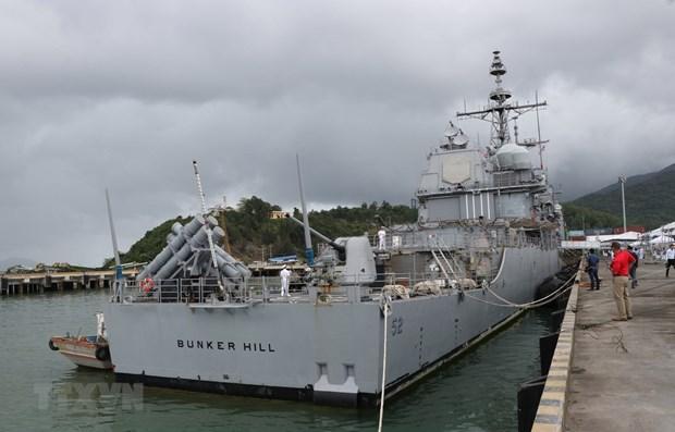 Des navires de la marine americaine en visite dans la ville de Da Nang hinh anh 1