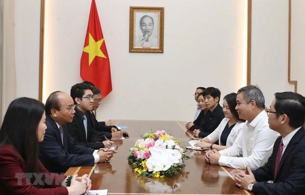 Le Premier ministre recoit le directeur general de Texhong Vietnam hinh anh 1