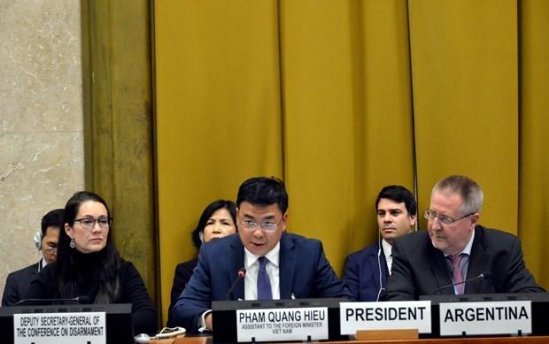 Le Vietnam soutient tous les efforts pour promouvoir le desarmement hinh anh 1