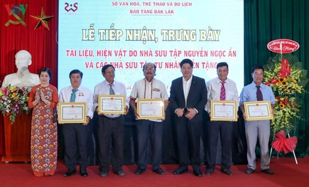 Le Musee de Dak Lak accueille des collections genereuses hinh anh 2