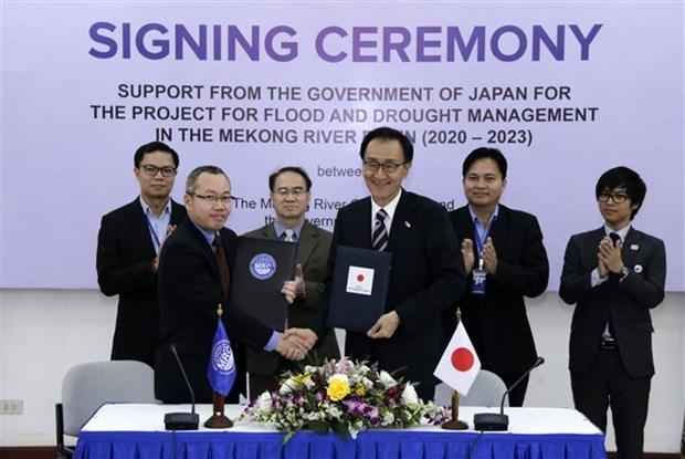 Le Japon aide a gerer les inondations et secheresses dans le bassin du Mekong hinh anh 1