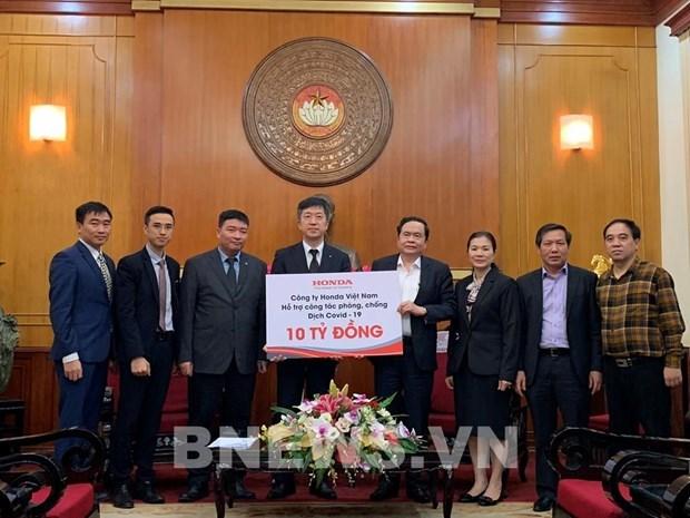 Honda Vietnam soutient les efforts contre le coronavirus hinh anh 1