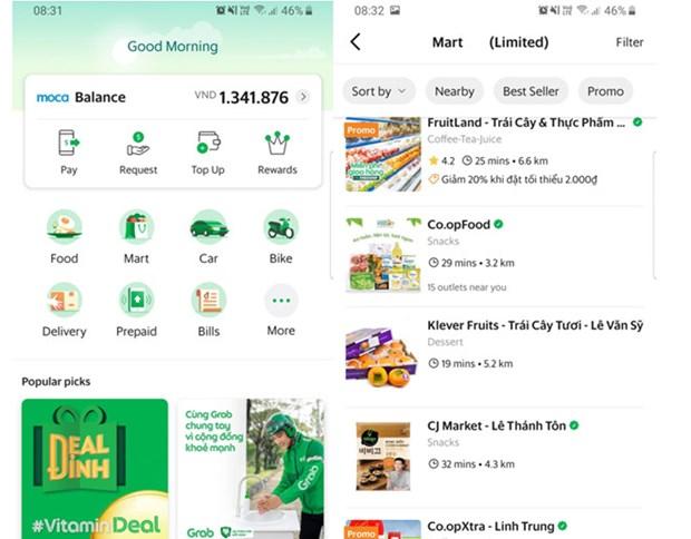 Grab lance le service GrabMart pour la saison epidemique hinh anh 1