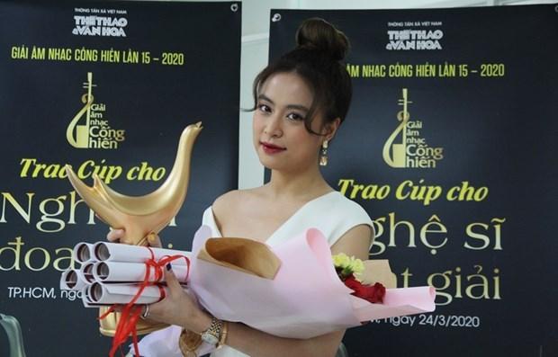 Hoang Thuy Linh grande gagnante des Contributions a la musique hinh anh 1