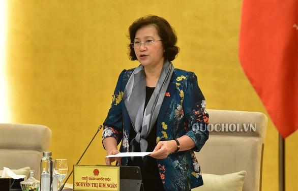 COVID-19 : la presidente de l'AN exhorte les deputes de se tenir aux cotes du peuple hinh anh 1