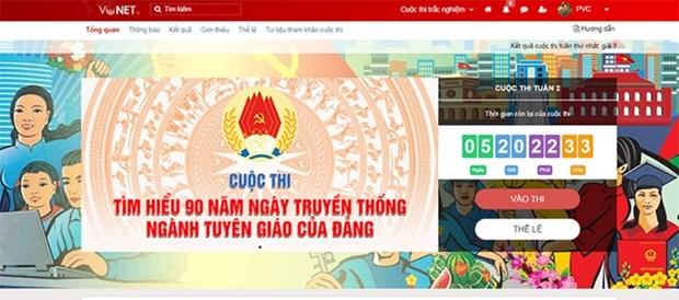 Bilan de la premiere semaine du concours d'etude de l'histoire du secteur de la propagande et de l'education hinh anh 1