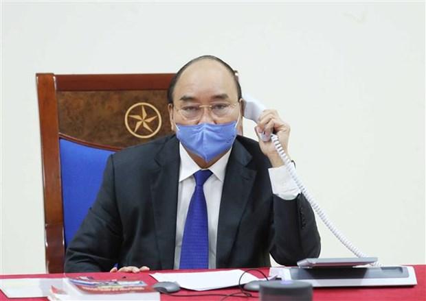 Conversation telephonique entre les PM vietnamien et chinois hinh anh 1