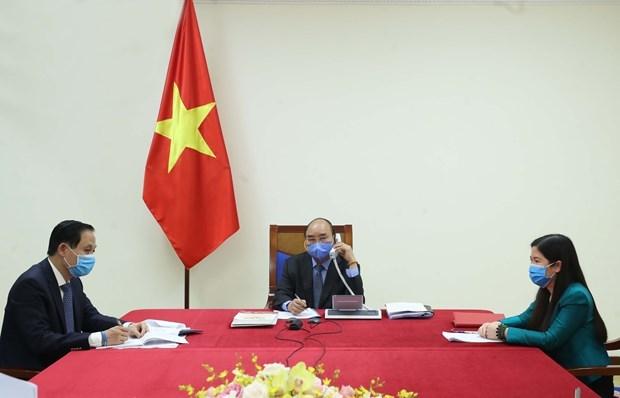 COVID-19 : Le PM s'entretient par telephone avec le president sud-coreen hinh anh 1
