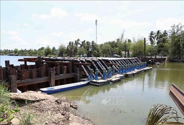 L'intrusion salee dans le delta du Mekong sera a un haut niveau en avril hinh anh 1