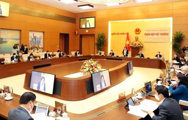 Le Comite permanent de l'AN discute du soutien aux personnes touchees par le COVID-19 hinh anh 1