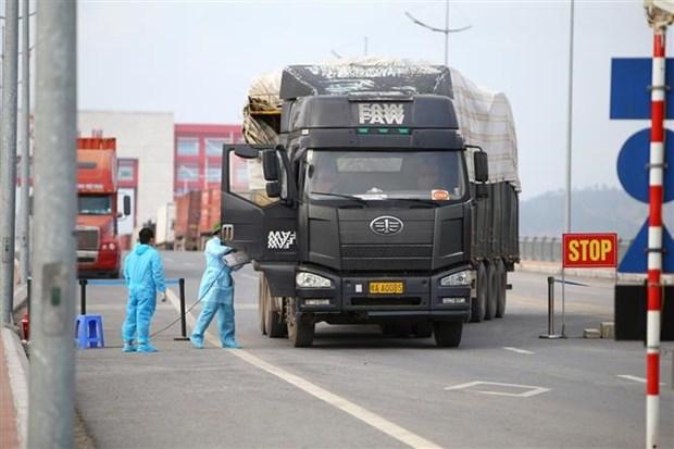 Quang Ninh : Favoriser l'import-export au poste frontalier de Mong Cai hinh anh 1