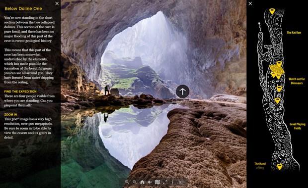 Son Doong fait partie des 10 plus belles visites virtuelles du monde hinh anh 1