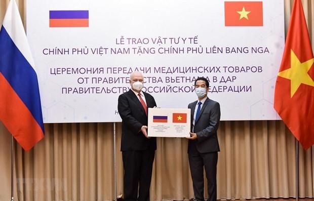COVID-19 : masques antibacteriens offerts par le Vietnam a la Russie hinh anh 1