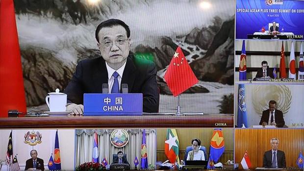 Le PM preside le Sommet special de l'ASEAN+3 par visioconference hinh anh 3