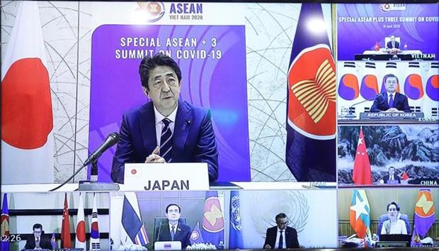 Le PM preside le Sommet special de l'ASEAN+3 par visioconference hinh anh 4