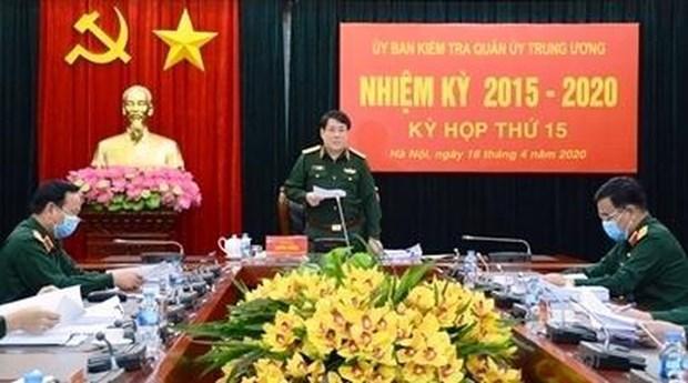 La Commission d'inspection de la Commission militaire centrale tient sa 15e session hinh anh 1