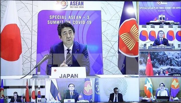 Le Japon salue l'importance de renforcer la cooperation de l'ASEAN + 3 dans la lutte anti-COVID-19 hinh anh 1