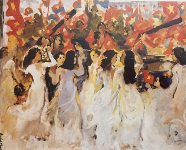 Exposition d'art en ligne pour celebrer la grande victoire du Printemps 1975 hinh anh 1
