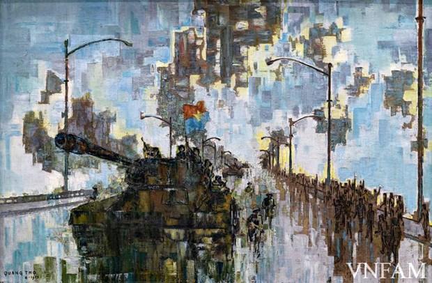 Exposition d'art en ligne pour celebrer la grande victoire du Printemps 1975 hinh anh 2