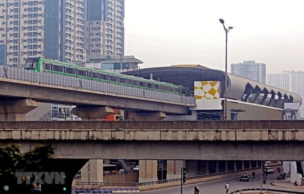 Hanoi prevoit l'investissement dans deux trains urbains hinh anh 1