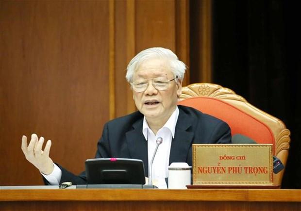 Le leader Nguyen Phu Trong preside la conference nationale des cadres hinh anh 1