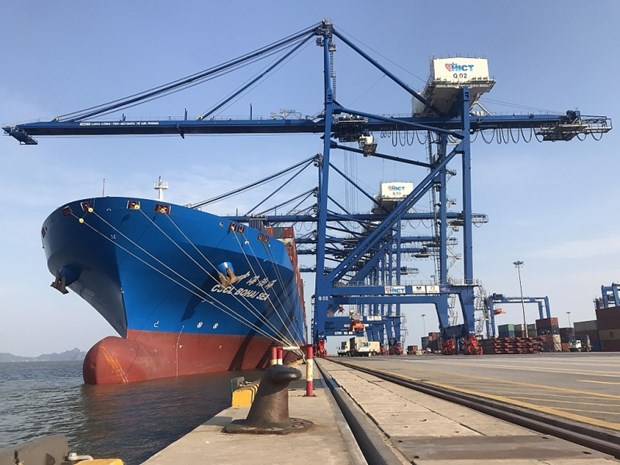 Le port maritime international de Hai Phong accueille un porte-conteneur de 120.000 tonnes hinh anh 1