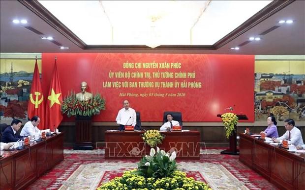 Nguyen Xuan Phuc rappelle la double mission aux autorites de Hai Phong hinh anh 1