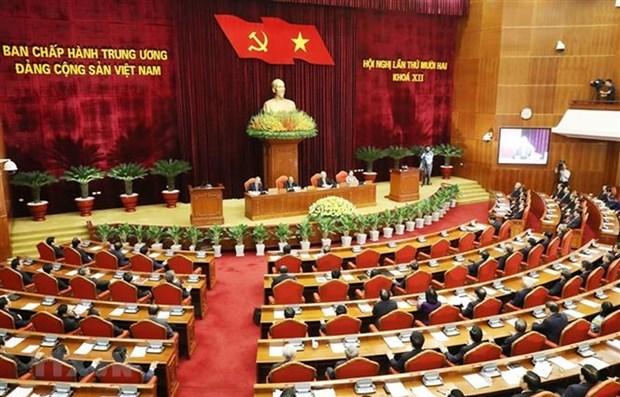 Cloture du 12e plenum du Comite central du PCV (12e mandat) hinh anh 1